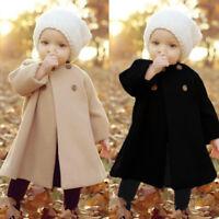 petit enfant bébé fille chaud d'HIVER Outwear à manches longues grande cape