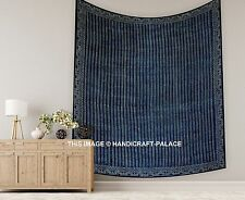Tapestry Ethnic Decorative Indigo Color Traditional Block Print Tapestry Hand