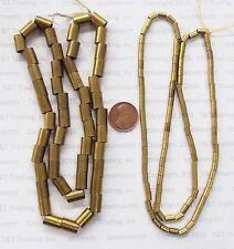 TB269   100  Pc Medium African Metal Tube  Trade Beads   Bin L3
