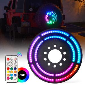 Dual RGB LED Dancing Spare Tire Brake Light 3rd Rear Wheel Lights for Jeep JK JL