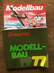 Graupner Modellbau Kataloge 1977 und 1990