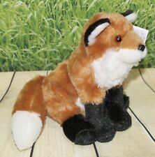 "Wild Republic RED FOX 8"" Plush Cuddlekins Sitting Floppy Stuffed Animal NEW"