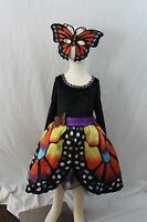 Butterfly Monarch Multi Color Deluxe Halloween Costume Mask Boutique Kids NEW