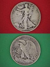 MAKE OFFER $5.00 Face Value 90% Silver Walking Liberty Half Dollars Junk Coins