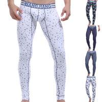 Hombre Algodón Suave Cómodo Ropa interior térmica calzoncillos largos pantalones