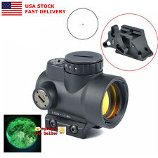 US 1x25 Reflex MRO 2.0 MOA Red Dot Scope Sight&Low/High Mounts for Rifle Hunting
