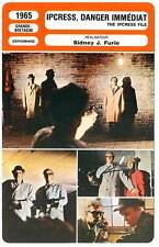 FICHE CINEMA : IPCRESS DANGER IMMEDIAT - Caine,Green,Furie 1965 The Ipcress File