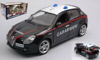 Model Car Scale 1:24 Burago Alfa Romeo Giulietta Carabinieri diecast Mod