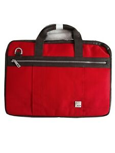 """Brand New Knomo Red laptop bag BNWT.Fits 14"""" 13"""" 12"""" or 11"""" laptops"""