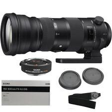 Sigma 150-600mm f/5-6.3 DG OS HSM Sports Lens for Canon EF + APO Teleconverter