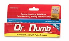 Dr Numb Lidocaine Cream Numbing 30g Skin Tattoo Waxing Piercing Exp. 6/2022