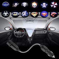 3D Car Cigarette Lighter LED Shadow Interior Light Laser Projector Logo Lamp 12V