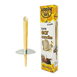2 Pcs or 1 pair Ear candles Cone Style - 100% Beeswax ** Happy Ears **