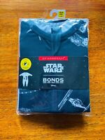 Bonds Baby Black White Star Wars Starships Zippy Zip Wondersuit BNIP Size 2