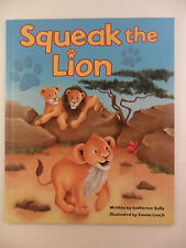 LARGE KIDS BABY TODDLER PICTURE STORY BOOK SQUEAK THE LION GIFT