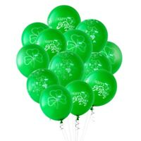 30Pcs Shamrock Latex Balloons Clover Balloon Irish St Patricks Day Party Fa I9V4