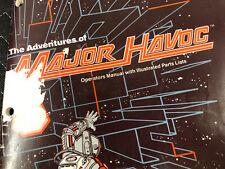 Atari Major Havoc Arcade Game Machine Operators Manual Parts List