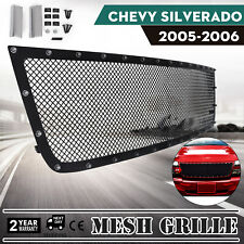 Rivet Mesh Grille For Chevy SILVERADO 2005-2006 Customized 2500 Stainless Steel