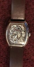Kenneth Cole New York Deco Skeleton Automatic Watch w/ Brown Leather Band
