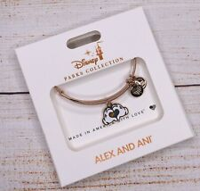 NEW Alex and Ani Rainbow Disney Mickey Mouse Heart Rose Gold Bracelet