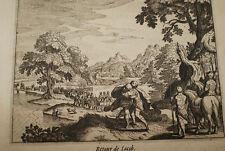 GRAVURE SUR CUIVRE RETOUR DE JACOB-BIBLE 1670 LEMAISTRE DE SACY  (B20)