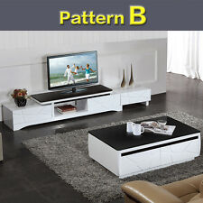 LED LCD TV Unit  Cabinet Stand Setting With Drawer Storage Coffee Table Set
