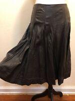 Worth New York 100% Genuine Leather Carob Flare Skirt