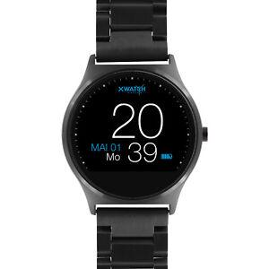 B-Ware | Herrenuhr X-WATCH Dark Steel Android & iOS Herren Smartwatch Armbanduhr