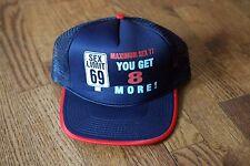 """Vtg """"Sex Limit 69 Maximum Sex 77 - You get 8 More"""" Trucker Cap Snapback"""