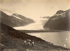Norvège, Nordland Svartisen, vue panoramique  Vintage albumen print,  Tira