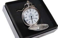 More details for masonic pocket watch gift silver colour square & compass faith hope & charity