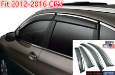 Fit 2012 - 2016 Honda CRV Window Vent Visors OE Style Sun Rain Wind Deflectors