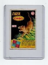 """Tiger Crackers Fire Cracker Label 1 1/2"""" 16 Made In China"""