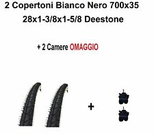 2 copertoni bici 28 City Bike Passeggio 700x35 28x1 5/8 3/8 Bianco Nero Deestone