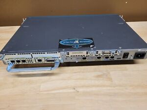 Cisco 2611XM Router with Ethernet 4E and Serial WIC2T cards installed