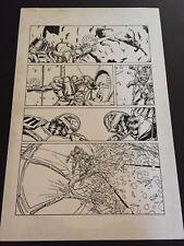Armorines #3 Page 19 Original Ink art Jim Calafiore & Rod Ramos Valiant Comics