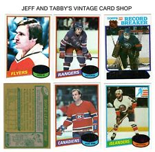 1980-81 TOPPS HOCKEY  1 TO 264 YOU PICK FROM SCANS