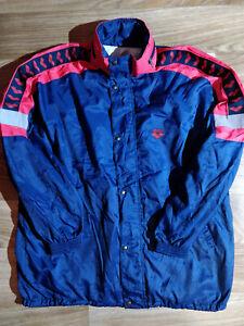 Arena Vintage Mens Tracksuit Top Nylon Hooded Jacket Windbreaker Hoodie Navy