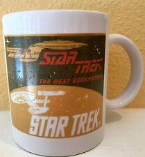 Vtg 1992 Star Trek The Next Generation Coffee Mug Cup Enterprise Paramount Pics