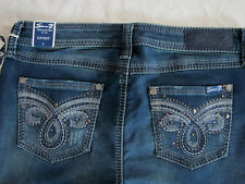 Seven7 Slim Boot Cut Knit Jeans- Embroidery/Studs-Frost Blue-Size 8- NWT $74