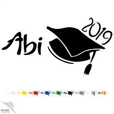 Abi 2019 Aufkleber Auto Sticker Karosserie Abitur Abschluss Sticker Hut Geschenk