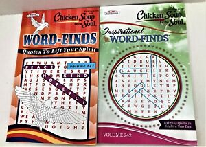 Lot 2 Chicken Soup for Soul Word Find Search Quotes Inspiration 43 Puzzles EACH