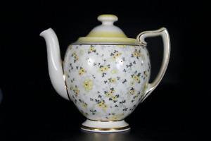 Antique Royal Doulton Art Deco c1930s Teapot Yellow Flowers