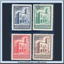 1934 San Marino Mostra Filatelica Serie completa n. 180/183 Nuovi Integri **