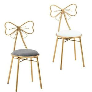 Floral Design Dressing Vanity Stool Makeup Pad Cushioned Chair Piano Seat