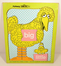 1973 Vintage 13pc Wooden Puzzle Little & Big Bird Figure Sesame Street Playskool