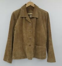 MASSINI Leather Jacket Brown Tan Full Zip Western Style Coat Women's L Large Y14