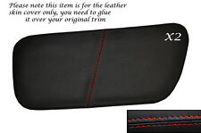 RED STITCH 2X REAR DOOR INSERT SKIN COVERS FITS ROVER COUPE CABRIOLET 96-99
