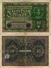 Reichsbanknote 50 Mark 1919 Berlin Reichsbank DEU-71d Ro.62d P-66(4) SEHR SELTEN
