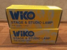 Vintage Wiko Stage Studio Lamp Bulb 500w 120V New Old Stock Lot Of 2 EGE